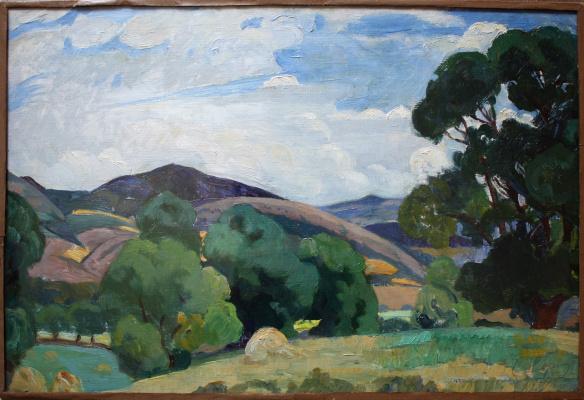 Saveliy Abramovich Sorin. Crimean landscape. 1919 Etude.