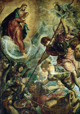 Jacopo (Robusti) Tintoretto. Battle of the Archangel Michael with Satan