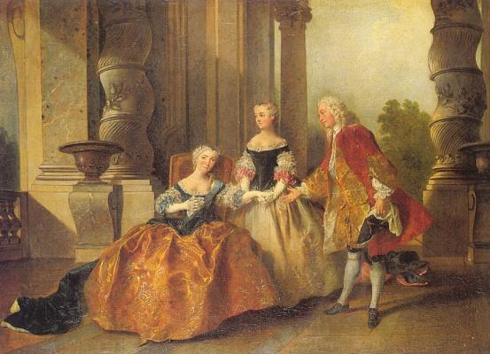 Nicolas Lancret. The scene of the tragedy Corneille