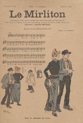 """Теофиль-Александр Стейнлен. Иллюстрация для журнала """"Мирлитон"""" № 79, февраль 1892 года"""