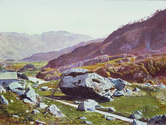 John Atkinson Grimshaw. Bowder Stone, Borrowdale