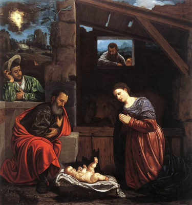 Giovanni Girolamo Savoldo. The adoration of the shepherds