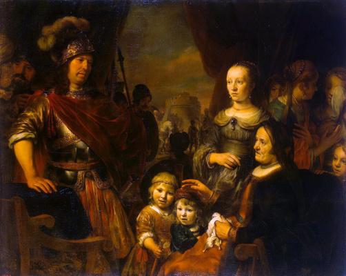 Гербранд Янс ван ден Экхаут. Мать и жена Кориолана умоляют о пощаде Рима
