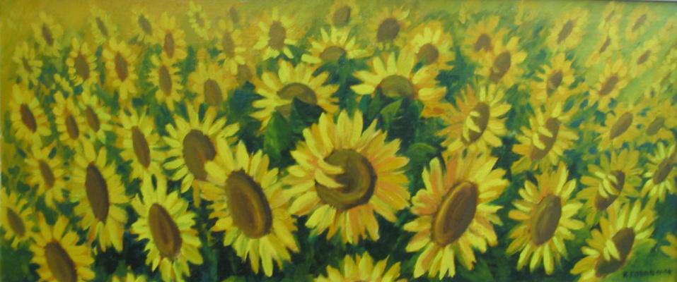 Ivan Vasilyevich Kovacs. Sunflowers