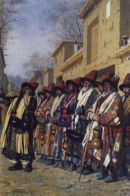 Vasily Vasilyevich Vereshchagin. Chorus of dervishes begging. Tashkent