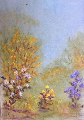 Rita Arkadievna Beckman. Autumn chrysanthemums