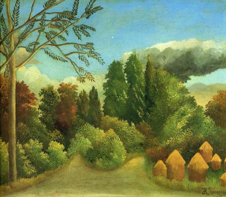 Henri Rousseau. View of the beach