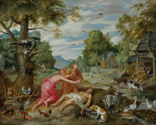Jan Brueghel the Younger. The Story of Adam and Eve: The Death of Abel