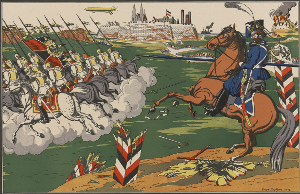 Георгий Иванович Нарбут. Cossack and Germans
