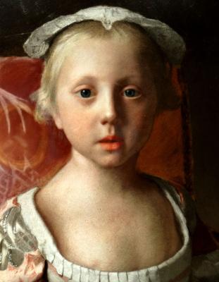 Jean-Etienne Lyotard. Princess Louisa Anne (detail)