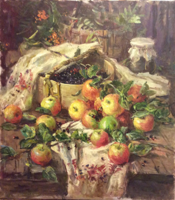 A. N. Shirokov. Apple still life