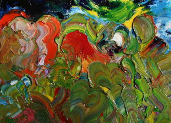 Alexander Ocher Kandinsky-DAE. Night in the gardens