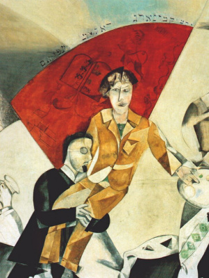 Marc Chagall. Introduction to the Jewish theater, (detail)