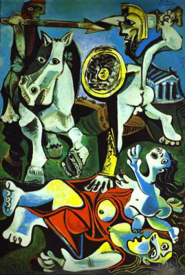 Pablo Picasso. The rape of the Sabine women