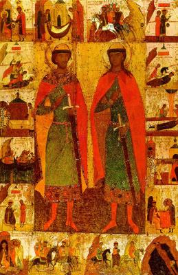 Icon Painting. Boris and Gleb