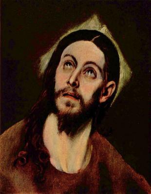 Эль Греко (Доменико Теотокопули). Голова Христа