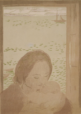 Maurice Denis. The mother and child at window