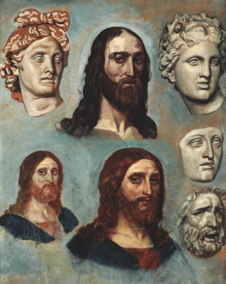 Alexander Andreevich Ivanov. The Head Of Christ. The second half of the 1830s-1840s Sketch