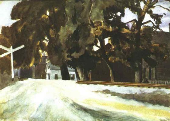 Edward Hopper. Railway crossing