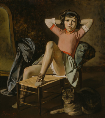 Balthus (Balthasar Klossovsky de Rola). Girl with Cat