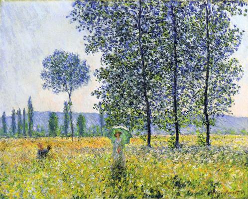 Claude Monet. Sunlight effect under the poplars