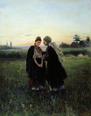 Vladimir Egorovich Makovsky. Mother and daughter