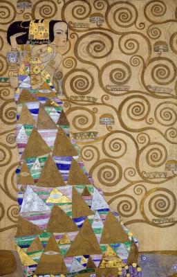 Gustav Klimt. Stoclet frieze. Waiting (fragment)