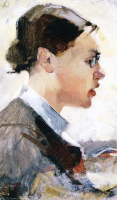 Helena Sophia Scherfbek. Portrait of Helena Westermark
