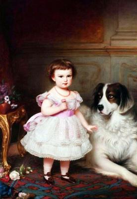 Franz Schrotzberg. Maria Valeria of Austria (daughter of Emperor Franz Joseph and Empress Elizabeth) in childhood