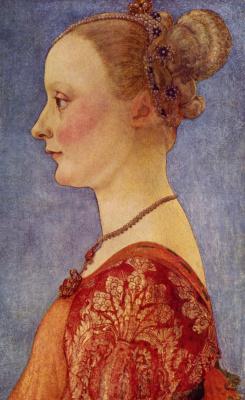 Антонио Поллайоло. Портрет молодой дамы