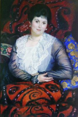 Boris Mikhailovich Kustodiev. Portrait Of Liubov Borisovna Borgman