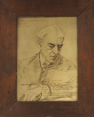 Валентин Александрович Серов. Портрет К.С. Станиславского.