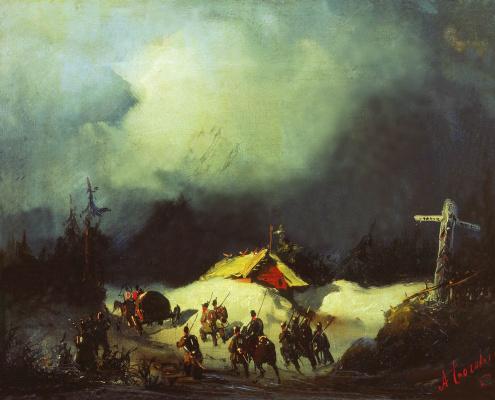 Alexey Petrovich Bogolyubov. Decembrists sending to exile in Finland