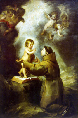 Bartolomé Esteban Murillo. The Vision Of Saint Anthony Of Padua