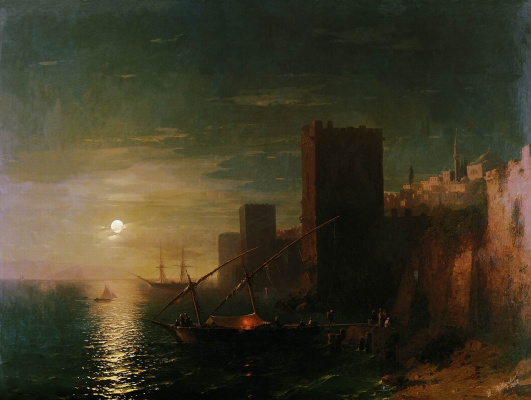 Ivan Aivazovsky. A lunar night in the Constantinople