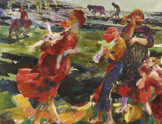 Philip Andreevich Malyavin. Rural life