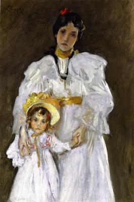 Уильям Меррит Чейз. Эскиз портрета матери и ребенка