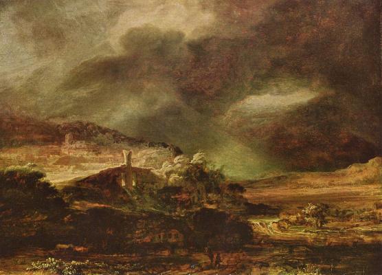 Rembrandt Harmenszoon van Rijn. Stormy landscape