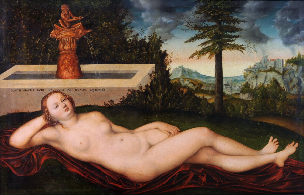 Lucas Cranach the Elder. Nymph at the fountain