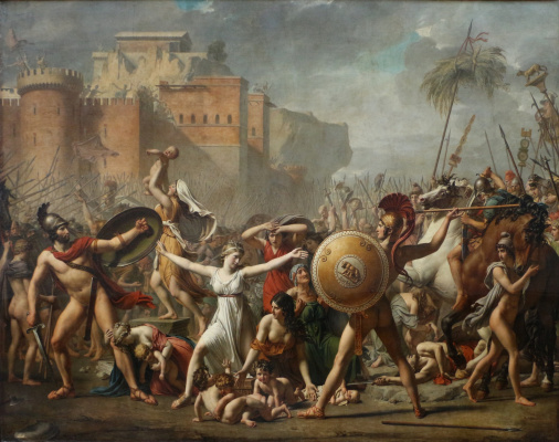 Jacques-Louis David. Sabine women stopping the battle between Romans and sabinyanami