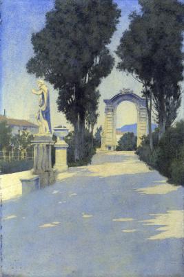 Maxfield Parrish. Villa Scassi, Genoa