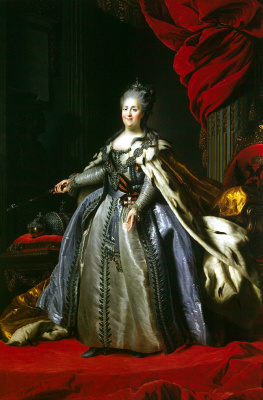 Fedor Stepanovich Rokotov. Portrait of Catherine II