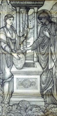 Эдвард Коли Бёрн-Джонс. Иисус и женщина у колодца