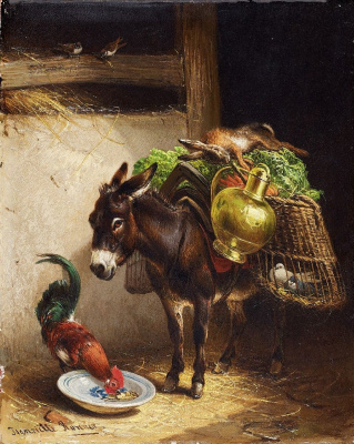 Henrietta Ronner Knip. Ass and cock in the barn
