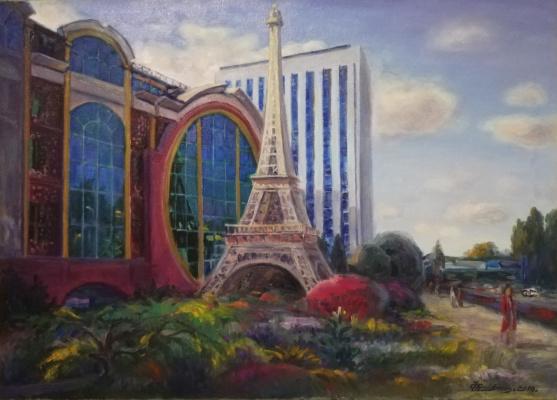 """Hamit Abdualievich Faysullin. """"French house in Almaty"""""""