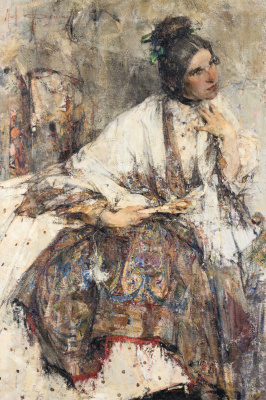 Nikolay Feshin. Portrait of Nadezhda Sapozhnikova