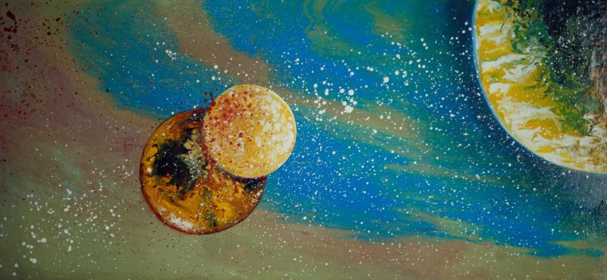"Alla Struchayeva. Painting ""Life Stream of the Universe"""