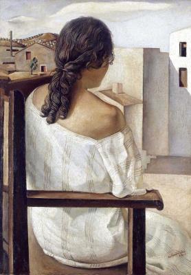 Salvador Dali. Portrait (sister of Dali Anna-Maria)