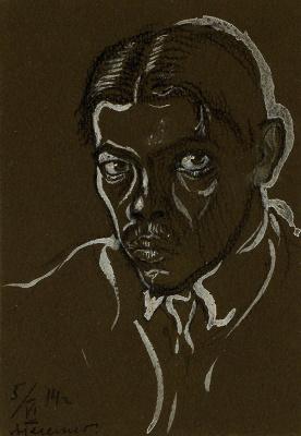 Alexander Ivanovich Hegello. Self-portrait