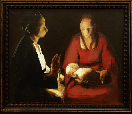 "Matvey Weissberg. Studies for the painting ""Newborn"" De Latour"